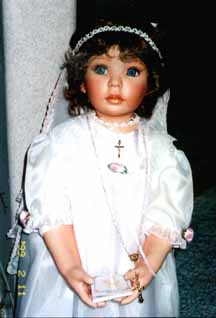 Christening doll; Actual size=240 pixels wide